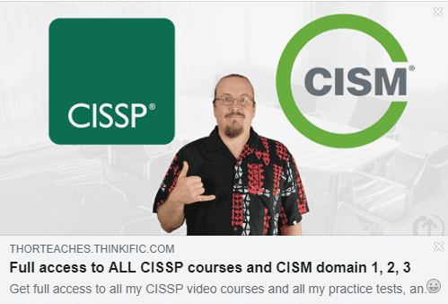 CISM Domain 2 was just approved on Udemy! | ThorTeaches